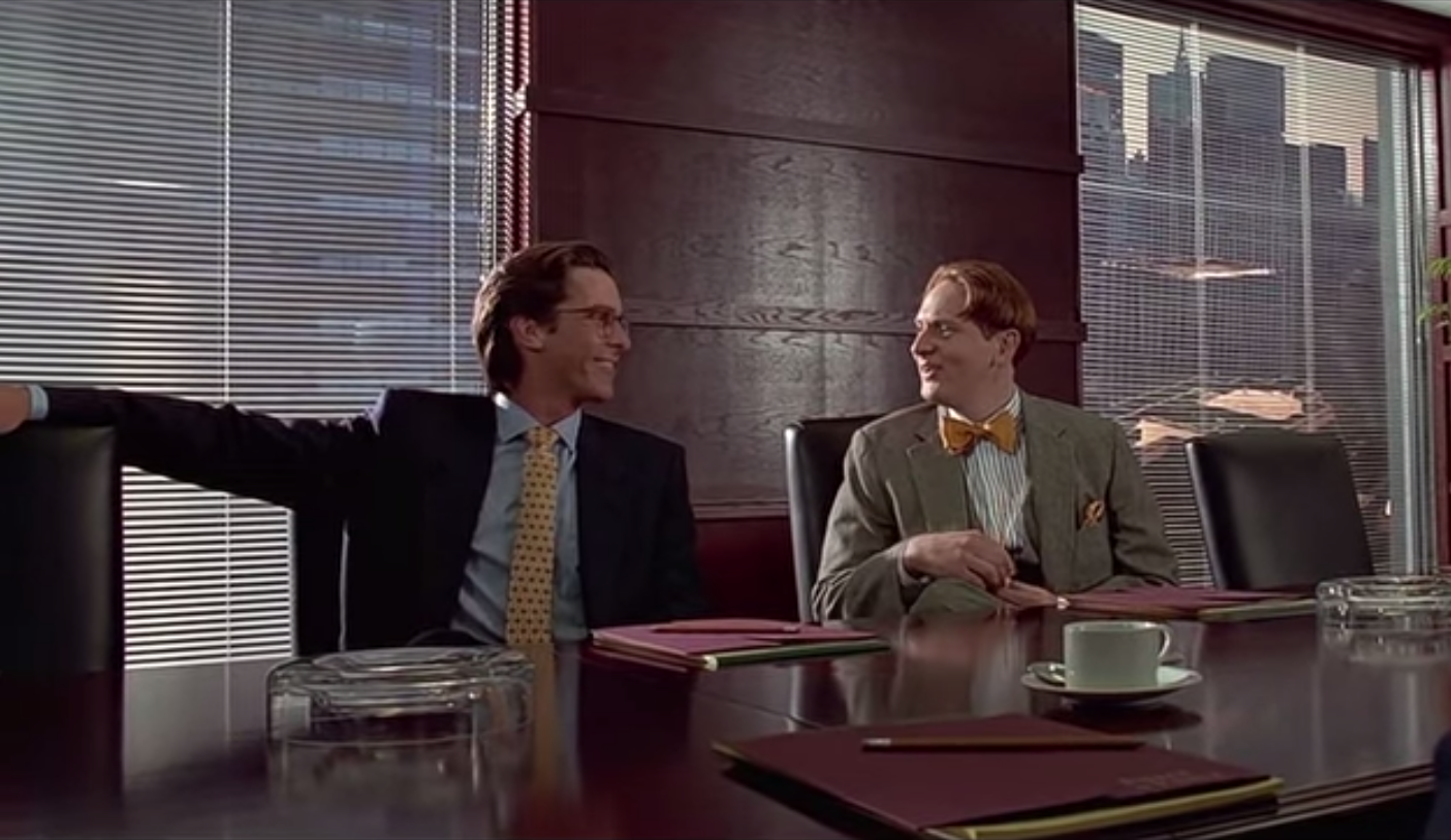 American psycho 2000 review express elevator to hell american psycho cards reheart Gallery