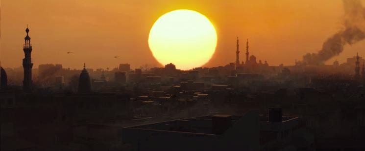 American sniper Iraqi sunrise