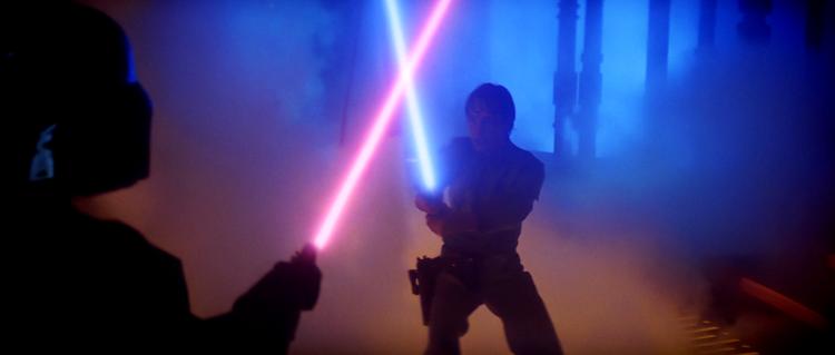 LukeVSVaderB star wars