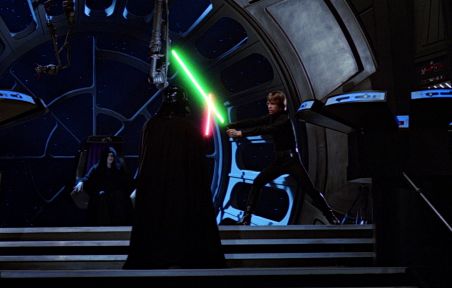 Luke_vs_Vader_DS2 return of the jedi star wars