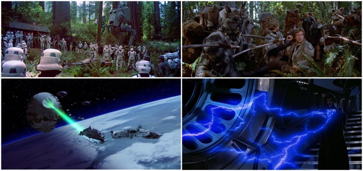 star wars return of the jedi fantasy montage