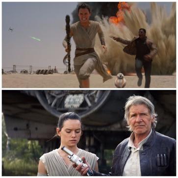 The Force Awakens Star Wars montage ii rey