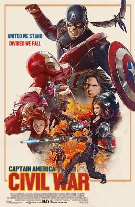 captain america civil war retro poster